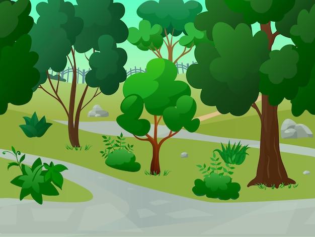 Игровой парк пейзаж Бесплатные векторы