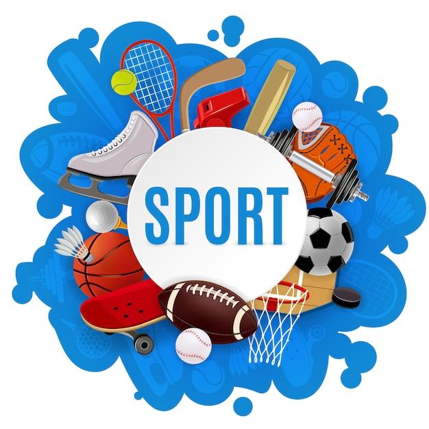 スポーツ用品のコンセプト 無料ベクター