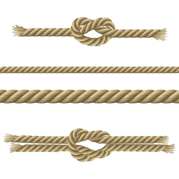 ロープ装飾セット 無料ベクター