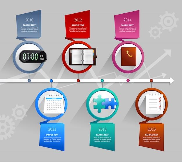 時間管理のインフォグラフィック 無料ベクター