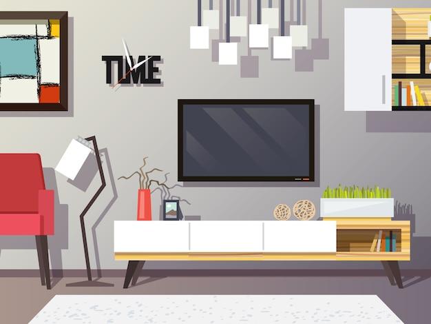 Концепция гостиной Бесплатные векторы