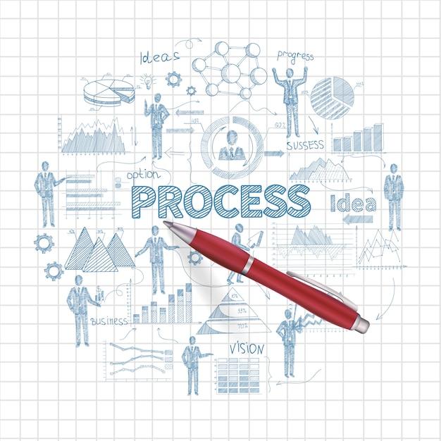 ビジネスプロセスの概念 無料ベクター