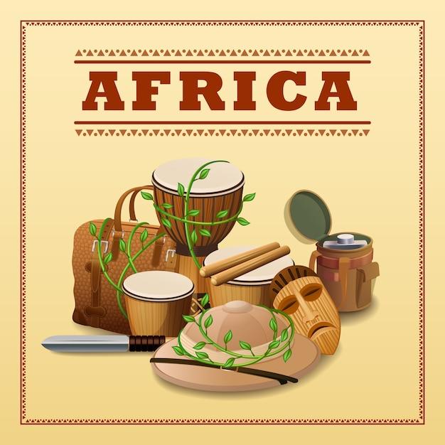 Фон африканских путешествий Бесплатные векторы