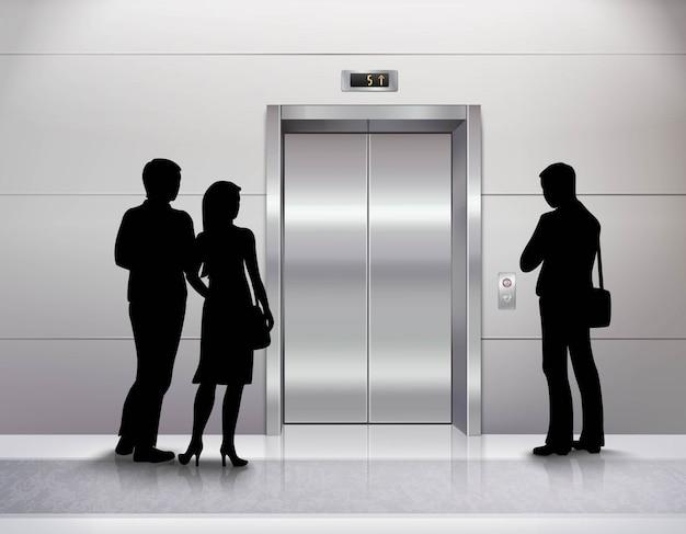 Три мужские и женские силуэты людей стоя Бесплатные векторы