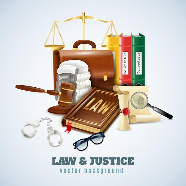 法と秩序構成の背景ポスター 無料ベクター