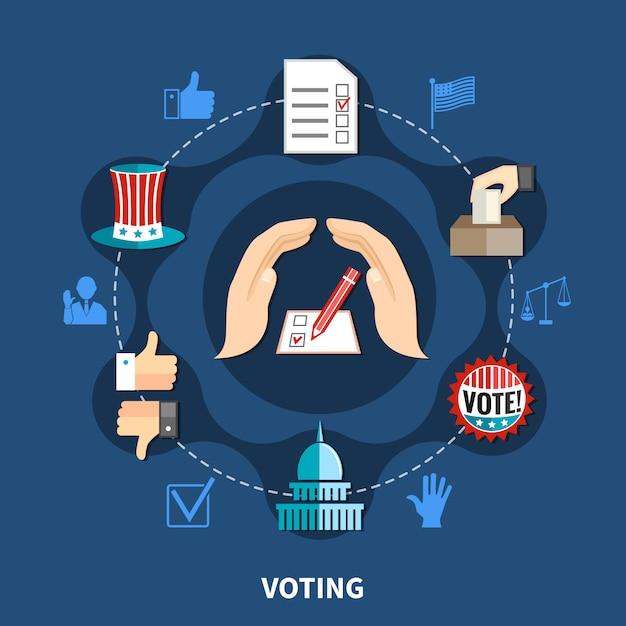 Концепция избирательной кампании Бесплатные векторы