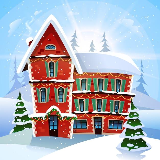 Рождество векторная иллюстрация Бесплатные векторы