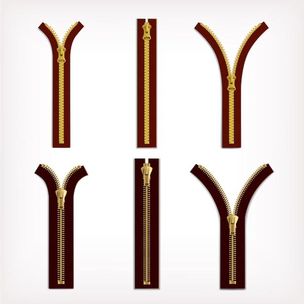 Пластиковая и металлическая желтая молния Бесплатные векторы