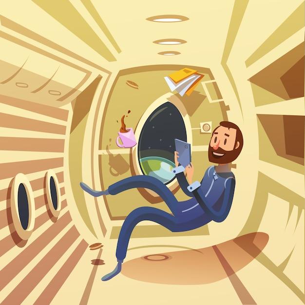 宇宙船のインテリア 無料ベクター