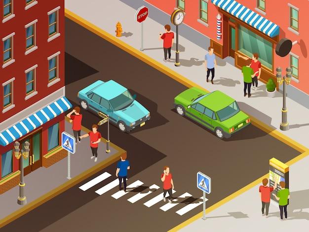都市ナビゲーション等尺性セット 無料ベクター
