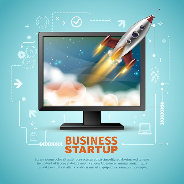 Иллюстрация запуска бизнеса Бесплатные векторы