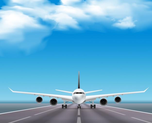 Гражданский пассажирский авиалайнер Бесплатные векторы