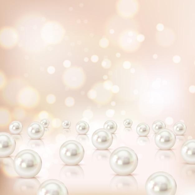 真珠の背景 無料ベクター