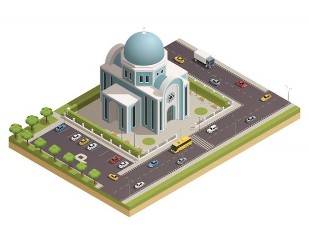 古典的な宗教崇拝および精神的な儀式の寺院 無料ベクター