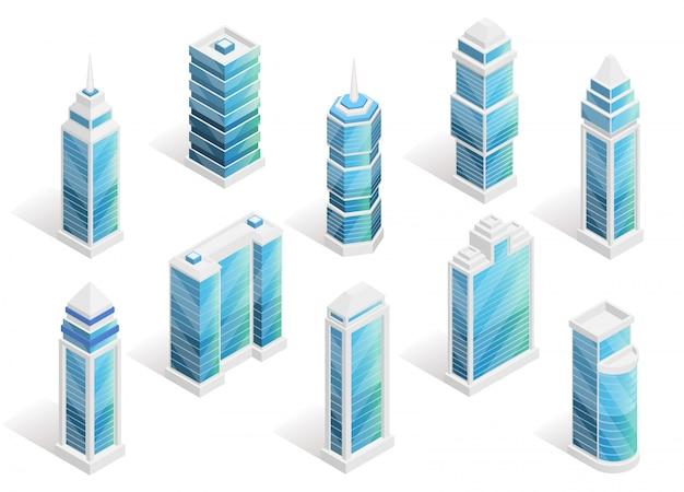 都市住宅等尺性セット 無料ベクター