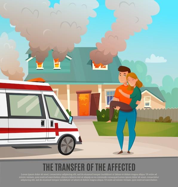 Аварийная первая помощь люди плакат Бесплатные векторы