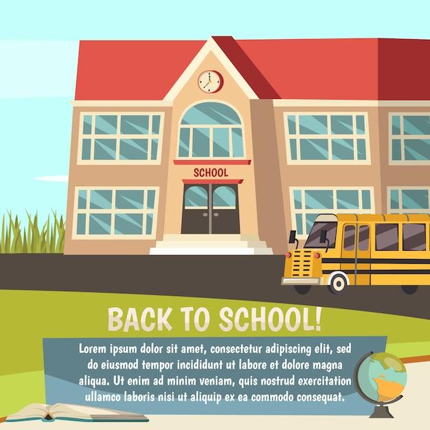 学校の直交概念 無料ベクター