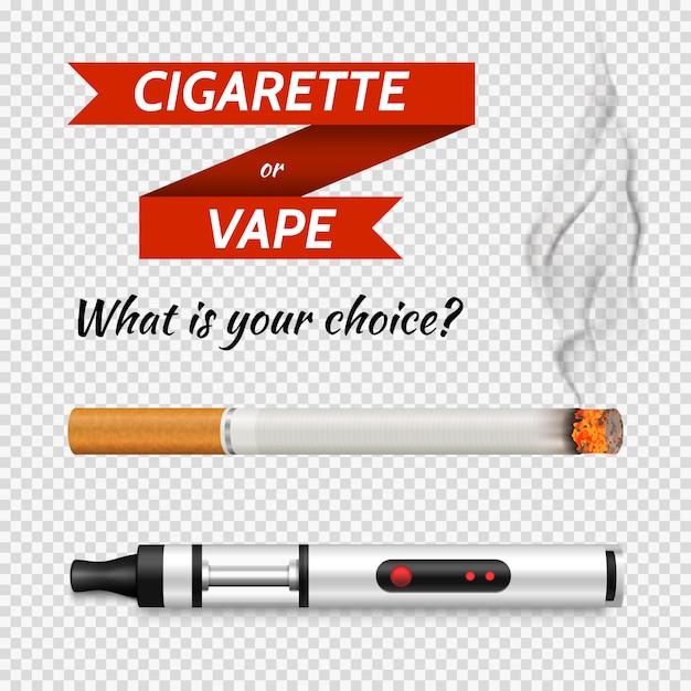 現実的なタバコセット 無料ベクター