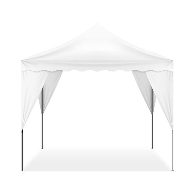 現実的な屋外テント 無料ベクター