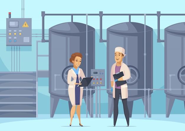 Иллюстрация молочного производства Бесплатные векторы