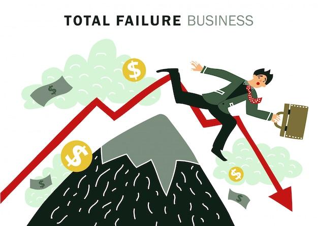 失敗ビジネス 無料ベクター