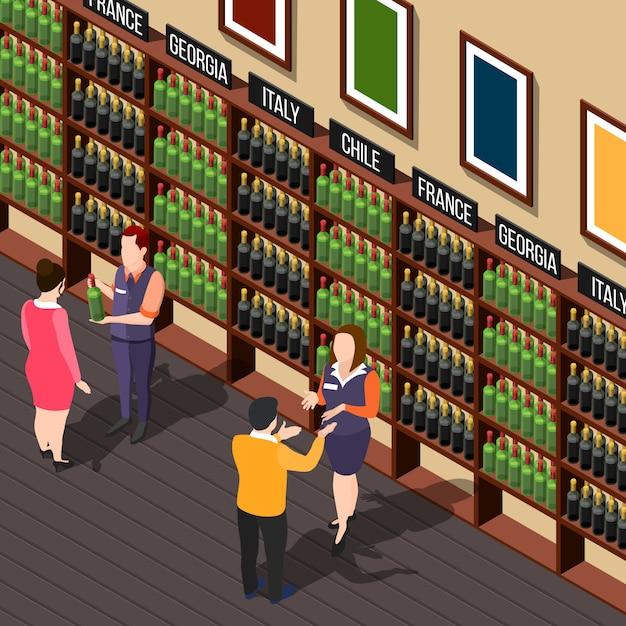 Иллюстрация винного дома Бесплатные векторы