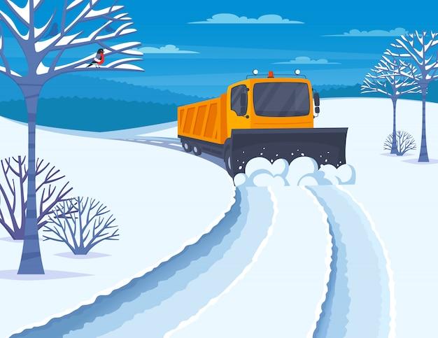 雪の輸送図 無料ベクター