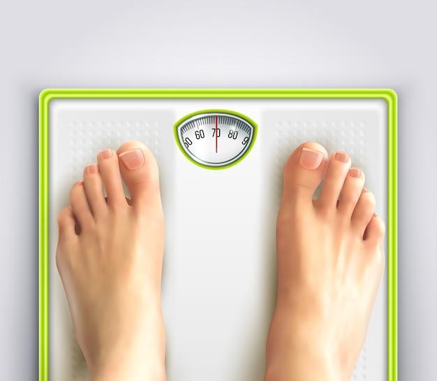 女性の減量の図 無料ベクター