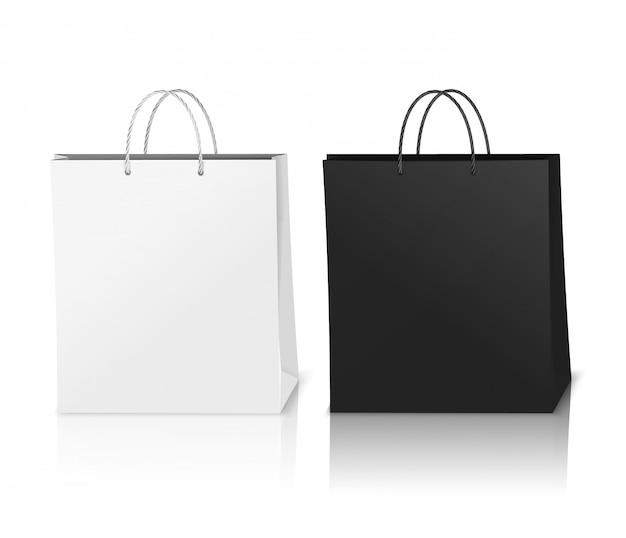 現実的なショッピングバッグモックアップ 無料ベクター