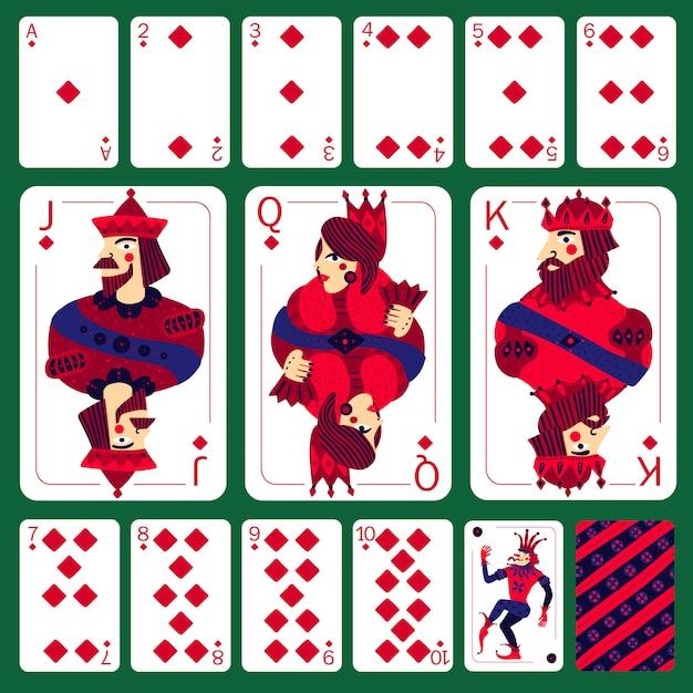 Бриллиантовый костюм для игры в покер Бесплатные векторы