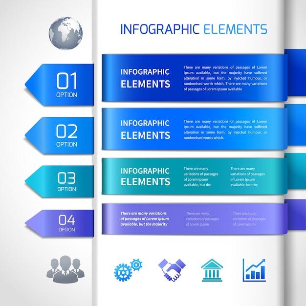 Абстрактные элементы дизайна инфографики Premium векторы