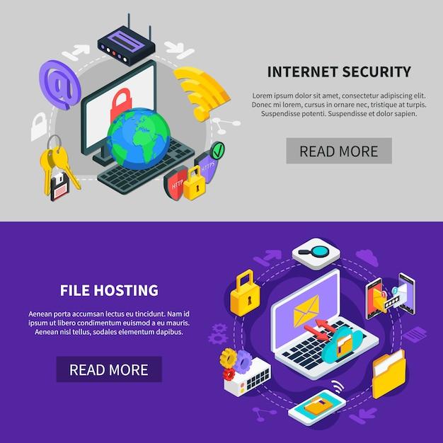 Услуги обмена данными и защиты Бесплатные векторы
