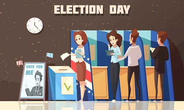 Политика выборы голосование мультфильм Бесплатные векторы
