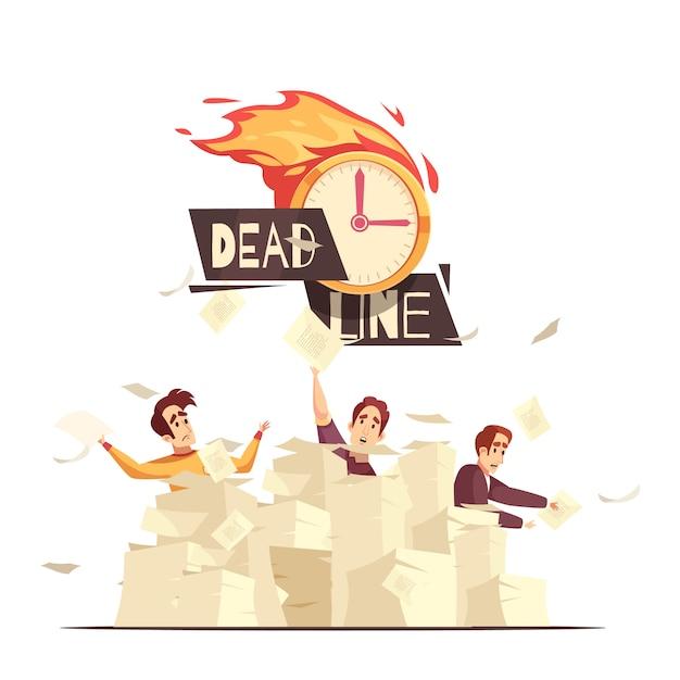 Крайний срок рабочего давления мультфильм Бесплатные векторы
