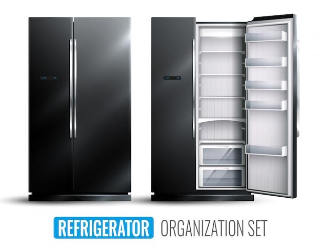 冷蔵庫組織セット 無料ベクター