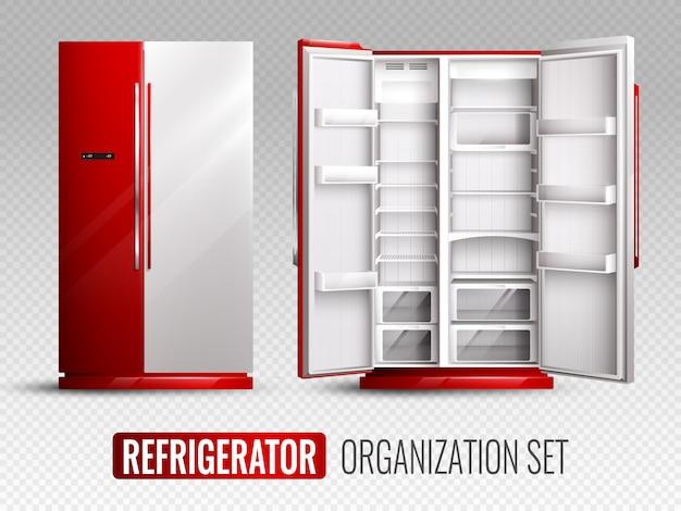 Организационный комплект холодильников Бесплатные векторы