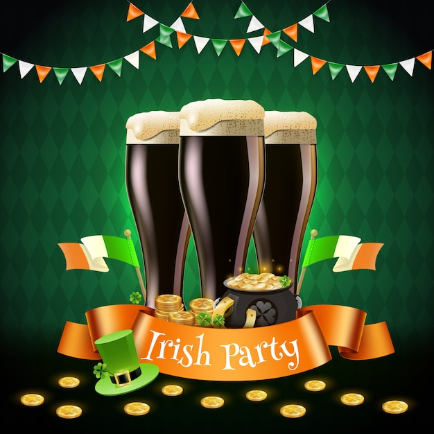 Ирландская вечеринка святого патрика Бесплатные векторы