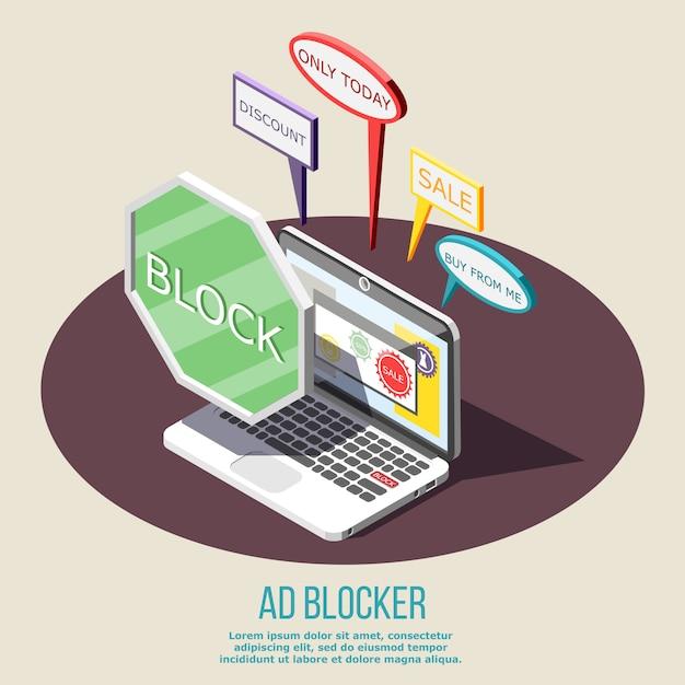 広告ブロック等尺性組成物 無料ベクター