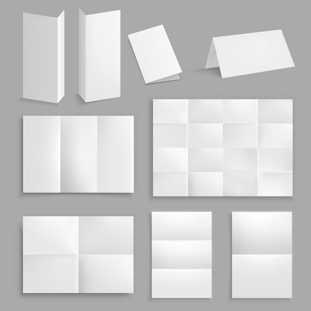 Коллекция реалистичных складных бумаг Бесплатные векторы