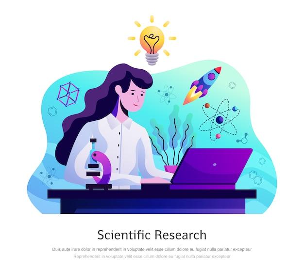 Научно-исследовательская абстрактная композиция Бесплатные векторы