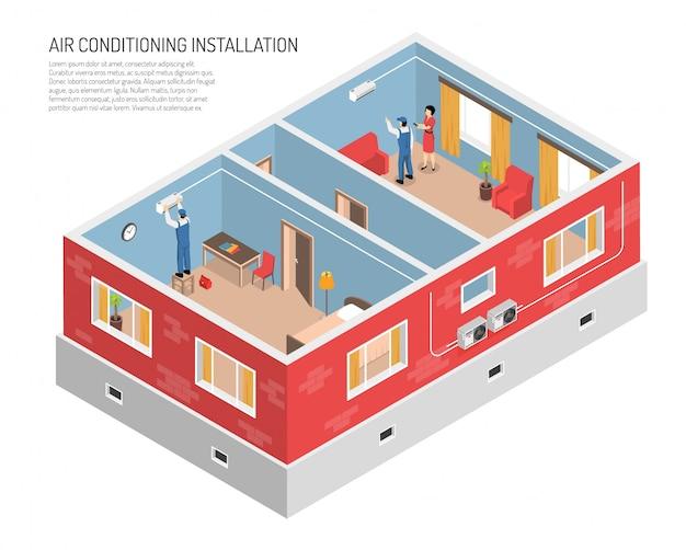Иллюстрация внутреннего климат-контроля Бесплатные векторы