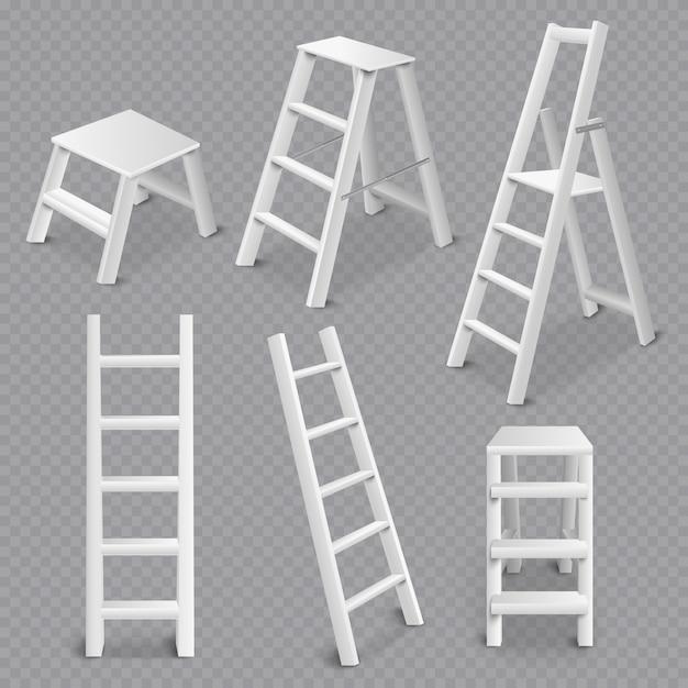 Лестницы реалистичные набор прозрачный Бесплатные векторы