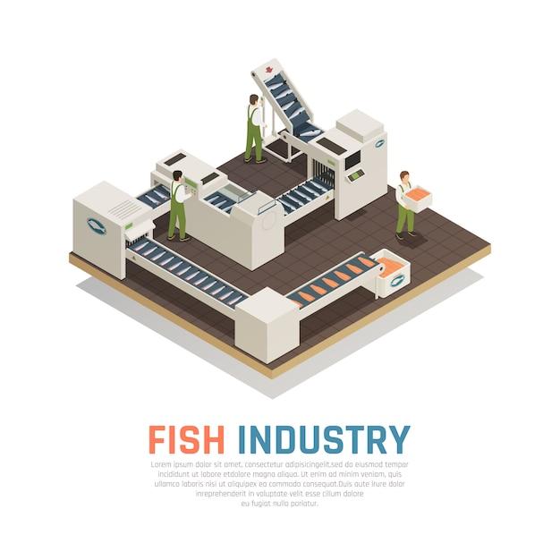 Производство морепродуктов Бесплатные векторы