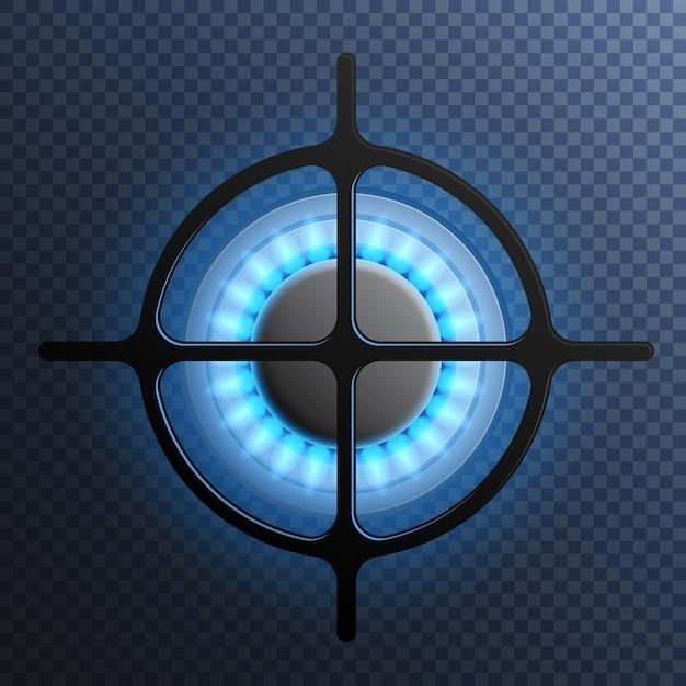 Состав плиты газовой пламени Бесплатные векторы