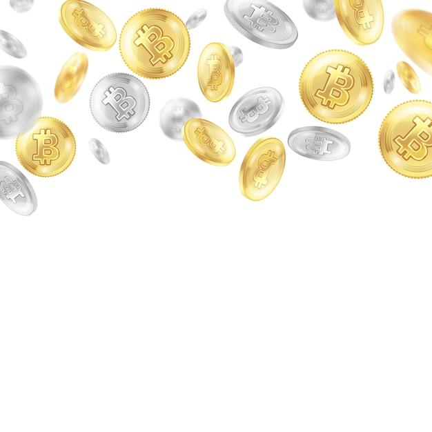 現実的な暗号通貨コイン 無料ベクター