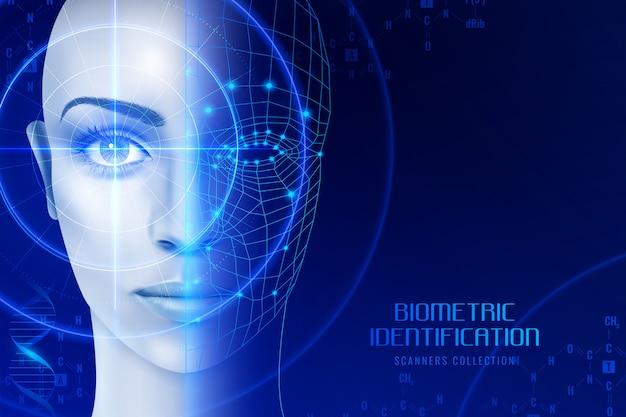 Биометрические идентификационные сканеры Бесплатные векторы