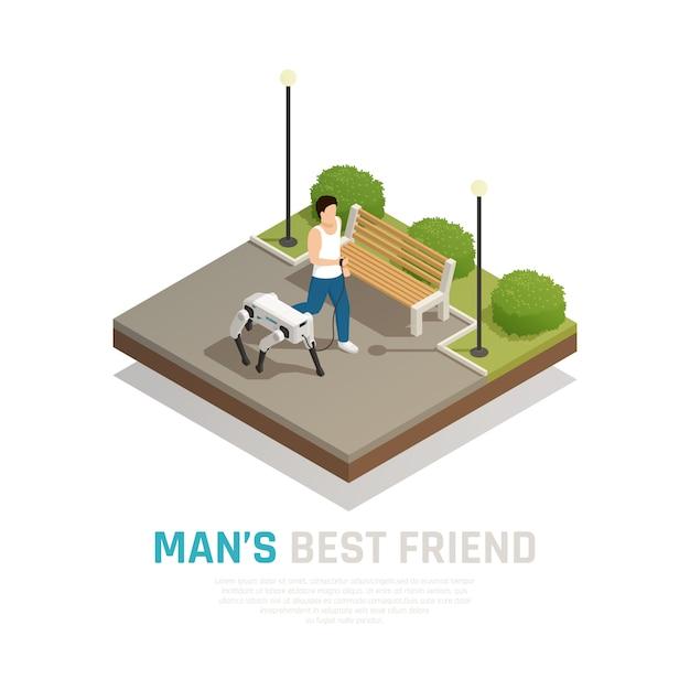 ロボット犬等尺性組成物 無料ベクター