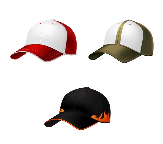 現実的な野球帽 Premiumベクター