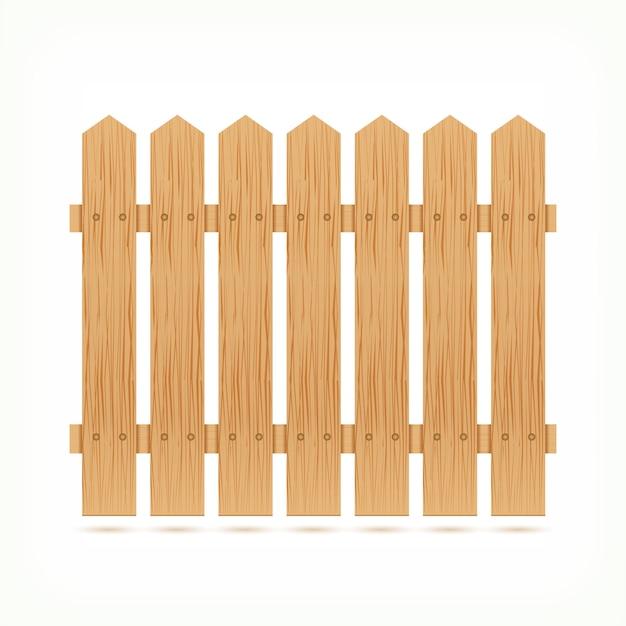 木製フェンスタイル 無料ベクター