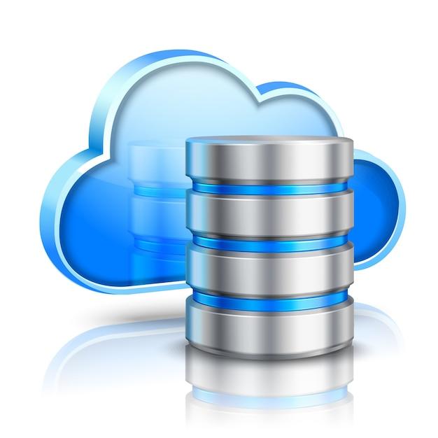 Концепция облачных вычислений Бесплатные векторы